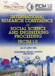 INTERNATIONAL RESEARCH CONFERENCE OF SOCIAL SCIENCE AND ENGINEERING PROCEEDING IRCIM 1.0